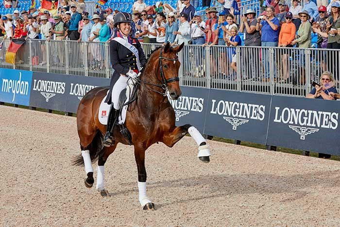 Charlotte Dujardin GBR on Mount St John Freestyle